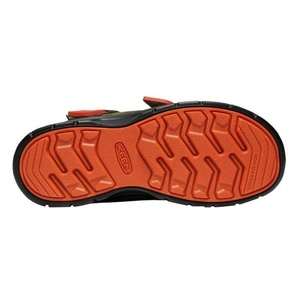 Detské topánky Keen Hikeport MID Strap WP C, martini olív / pureed pumpkin, Keen