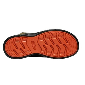 Detské topánky Keen Hikeport MID Strap WP Y, martini olive / pureed pumpkin, Keen