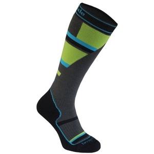 Ponožky Bridgedale Ski Mountain Junior grey/green/068, bridgedale