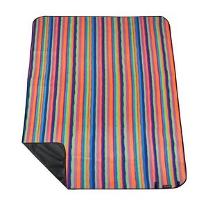 Pikniková deka s popruhom Spokey PICNIC Tartana, pruhovaná, Spokey