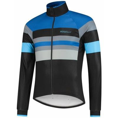 Ultraľahká cyklistická bunda Rogelli PEAK, čierno-modro-šedá 003.035, Rogelli