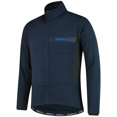 Softshellová cyklobunda Rogelli BARRIER s jemným zateplením, modrá 003.136, Rogelli