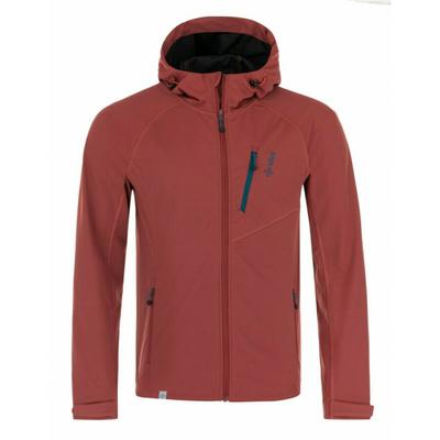 Pánska softshellová bunda Kilpi CAMPO-M tmavo červená, Kilpi