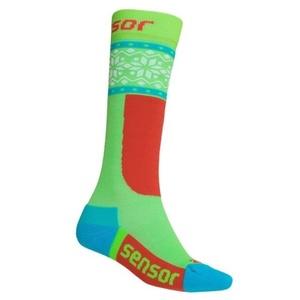 Ponožky Sensor Thermosnow NORWAY zelená biela 18200065, Sensor