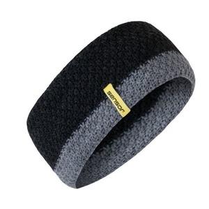 Pletená čelenka Sensor čierna, Sensor