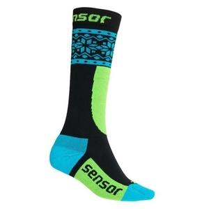 Detské ponožky Sensor Thermosnow NORWAY čierna / modrá 18200064, Sensor