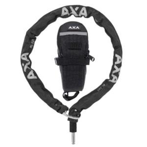 Zámok plugin reťaz RLC 100/5,5 čierna + podsedadlová brašňa 59551195SC, AXA
