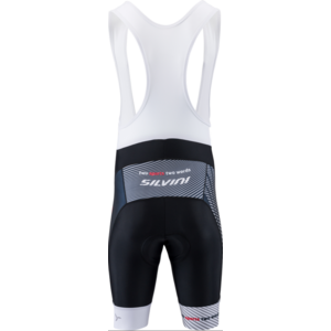 Pánske cyklistické nohavice Silvini Team Top MP1406 black-red, Silvini