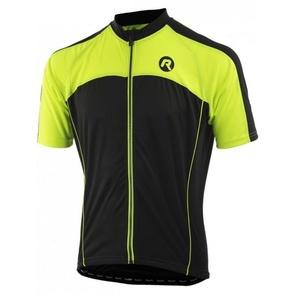 Cyklistický dres Rogelli MANTUA 3.0 s krátkym rukávom, čierno-reflexná žltý, 001.077., Rogelli