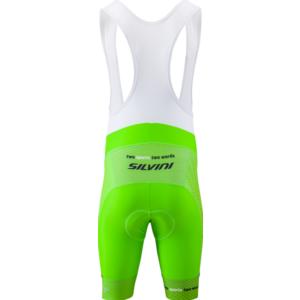 Pánske cyklistické nohavice Silvini Team Top MP1406 green-red, Silvini