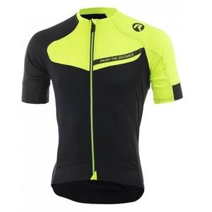 Cyklistický dres RogelliCONTENTO z hladkého materiálu, čierno-reflexná žltý 001.083., Rogelli