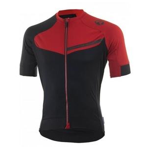 Cyklistický dres RogelliCONTENTO z hladkého materiálu, čierno-červený 001.084., Rogelli