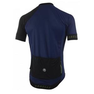 Cyklistický dres RogelliCONTENTO z hladkého materiálu, modro-reflexná žltá 001.085., Rogelli