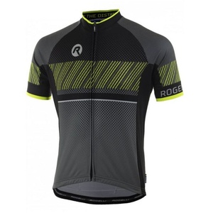 voľnejšie cyklistický dres Rogelli RITMO s krátkym rukávom, čierno-reflexná žltý 001.258., Rogelli