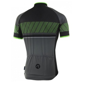 voľnejšie cyklistický dres Rogelli RITMO s krátkym rukávom, čierno-reflexná zelený 001.259., Rogelli