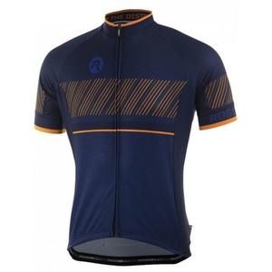 voľnejšie cyklistický dres Rogelli RITMO s krátkym rukávom, modro-oranžový 001.260., Rogelli