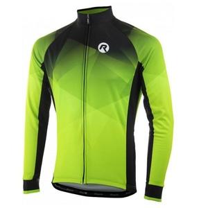 hrejivý cyklistický dres Rogelli ISPIRATO 2.0 s dlhým rukávom, reflexná zelený 001.408., Rogelli