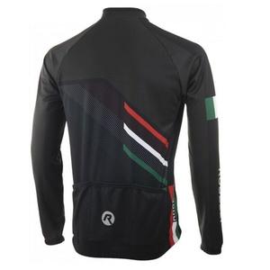 voľnejšie cyklistický dres Rogelli TEAM 2.0 s dlhým rukávom, čierny 001.971., Rogelli
