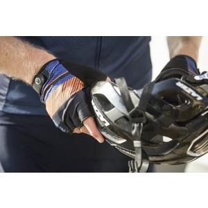 Rukavice na kolo Rogelli RITMO, modro-oranžové 006.402., Rogelli