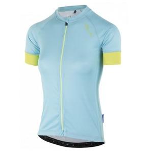 Dámsky cyklistický dres Rogelli Modesta s krátkym rukávom, svetlo tyrkysovo-žltý 010.115, Rogelli