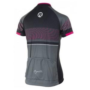voľnejšie dámsky cyklistický dres Rogelli BELLA s krátkym rukávom, šedo-čierno-ružový 010.159, Rogelli