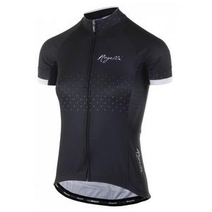 Dámsky cyklistický dres Rogelli PRIDE s krátkym rukávom a strihom na telo, čierno-biely 010.170., Rogelli