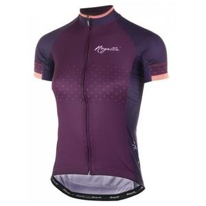 Dámsky cyklistický dres Rogelli PRIDE s krátkym rukávom a strihom na telo, vínový 010.172., Rogelli