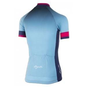 Dámsky prémiový cyklodres Rogelli FLOW s krátkym rukávom, modro-ružový 010.173, Rogelli