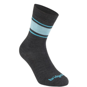 Ponožky Bridgedale Everyday Sock / Liner Merino Endurance Boot Women's dark grey/blue/126, bridgedale