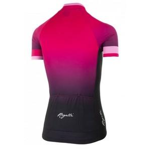 Dámsky prémiový cyklodres Rogelli FLOW s krátkym rukávom, ružovo-čierny 010.174., Rogelli