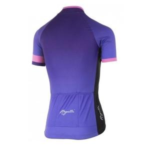 Dámsky prémiový cyklodres Rogelli FLOW s krátkym rukávom, fialovo-ružový 010.175., Rogelli