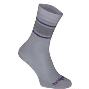Ponožky Bridgedale Everyday Sock / Liner Merino Endurance Boot Women's lt.grey/purple/065, bridgedale