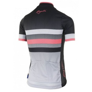 Nejprodyšnější dámsky cyklodres Rogelli DOT- s krátkym rukávom, šedo-čierno-ružový 010.176., Rogelli