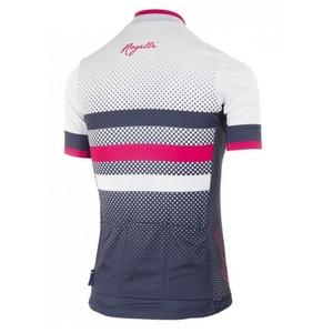 Nejprodyšnější dámsky cyklodres Rogelli DOT- s krátkym rukávom, modro-ružový 010.177., Rogelli
