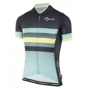 Nejprodyšnější dámsky cyklodres Rogelli DOT- s krátkym rukávom, tyrkysovo-šedo-žltý 010.178., Rogelli