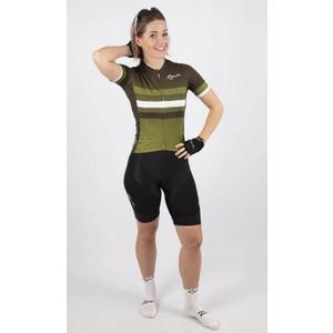 Nejprodyšnější dámsky cyklodres Rogelli DOT- s krátkym rukávom, zelený 010.179., Rogelli