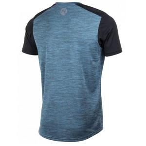 Pánske funkčnou tričko Rogelli GRAVITY, tyrkysový melír-reflexná žltá 830.242, Rogelli