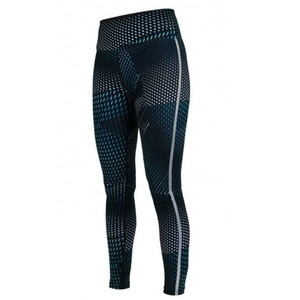 Legíny Salming Split Tights Women Deep Teal AOP, Salming