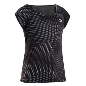 Dámske triko Salming Breeze Top Women Black AOP, Salming