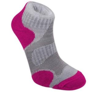 Ponožky Bridgedale Trailsport Lightweight Merino Cool Comfort Ankle Women's grey/raspberry/812, bridgedale