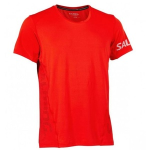Pánske triko Salming Laser Tee Men Fiery Red, Salming