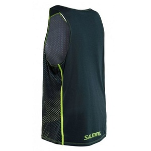 Pánske triko Salming Breeze Tank Men Sharp Lime AOP / Deep Teal Melange, Salming
