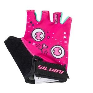 Detské cyklo rukavice Silvini Punta CA1438 pink, Silvini