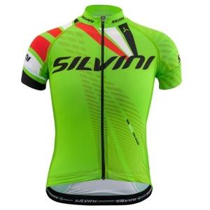Detský cyklistický dres Silvini Team CD1435 green-red
