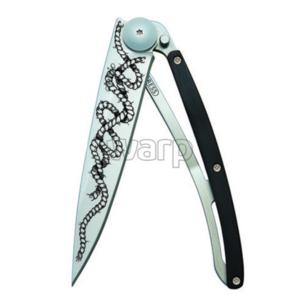 Vreckový nôž Deejo 1CB045 Tattoo 37g ebony wood, Rope, Deejo