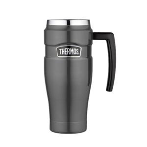 Vodotesný termohrnček s madlom Thermos Style metalicky sivá 160035, Thermos