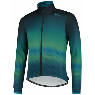 Ultraľahká cyklistická bunda Rogelli SOUL, modro-zelená 003.418