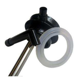 Sklenená termokanvice s pumpou Thermos metalicky sivá 194030, Thermos