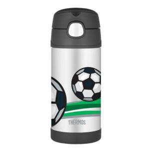 Detská termoska s slamkou Thermos Funtainer futbal, Thermos