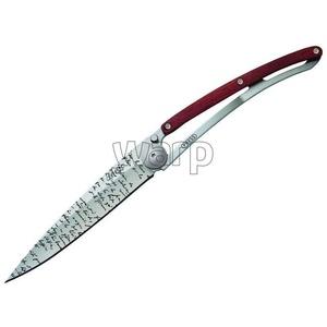 Vreckový nôž Deejo 1CB055 Tattoo 37g, ebony wood, Manuscript, Deejo